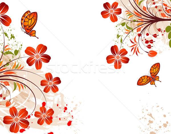 Grunge flower background vector illustration © Oleksii ...