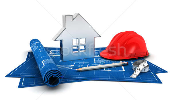 Stock photo: 3d house project