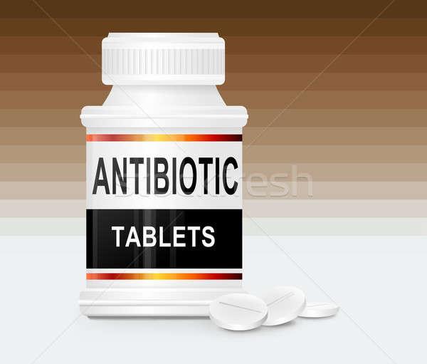 M Antibiotic Antibiotic tablets. st...