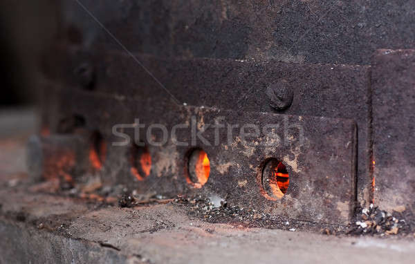 Stock photo: Coal furnace
