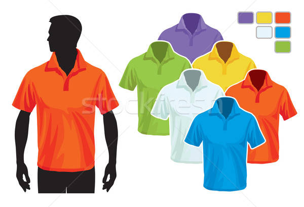 Stock photo: Polo shirt template