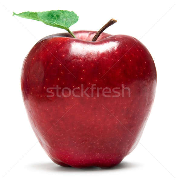 Stock photo: Fresh red apple