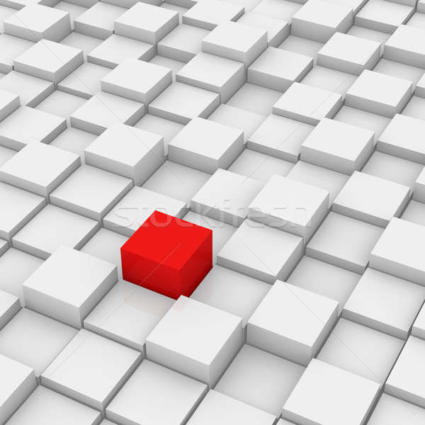 Stock photo: Red Different Cube