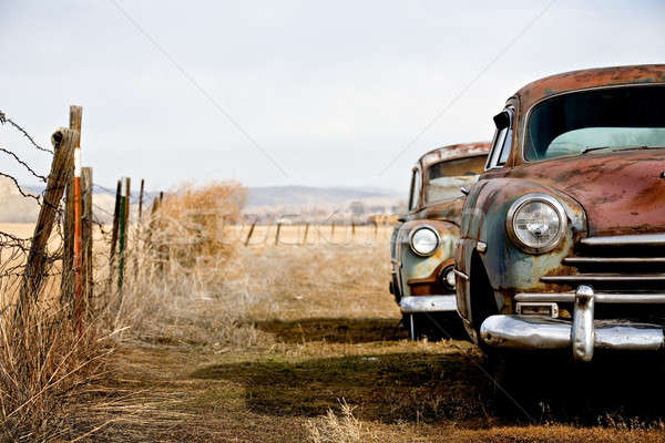 Stock photo: vintage cars