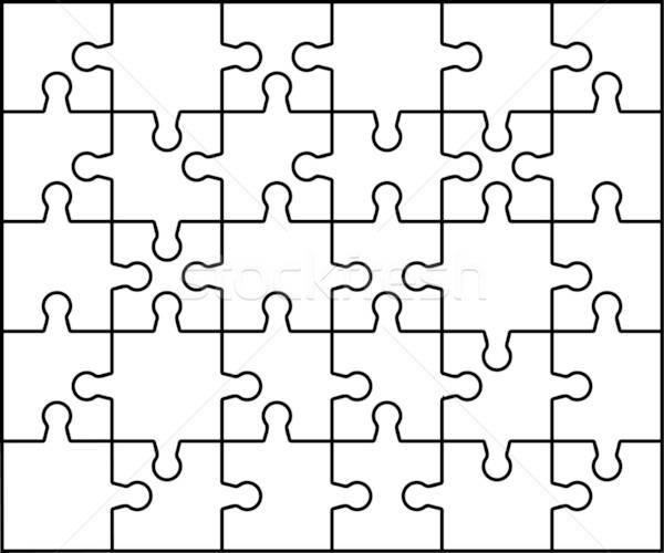 Line Drawing Crossword Clue : Puzzle vector illustration pavel konovalov angelp