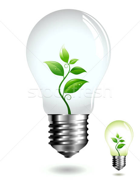 Stock photo: eco lightbulb