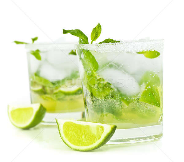 Stock photo: Cold mojito drink