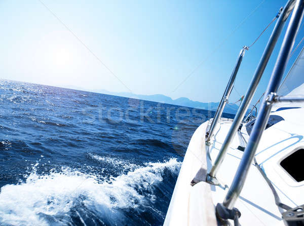 Stock photo: Luxury yacht