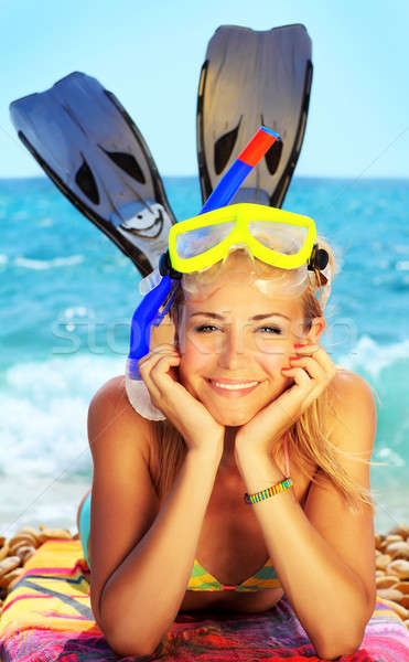 Stock photo: Summer fun on the beach
