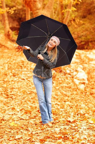 дождь золотой девушки фото