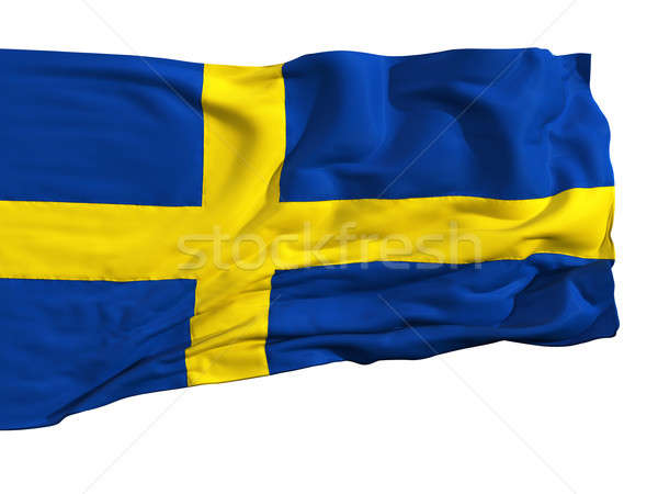 Stock photo: Flag of Sweden, fluttering in the wind