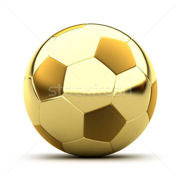 Golden soccer ball stock photo © Anton Balazh (Antartis) (#291901 ...