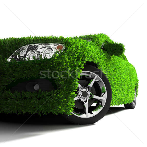 Stock photo: The metaphor of the green eco-friendly car