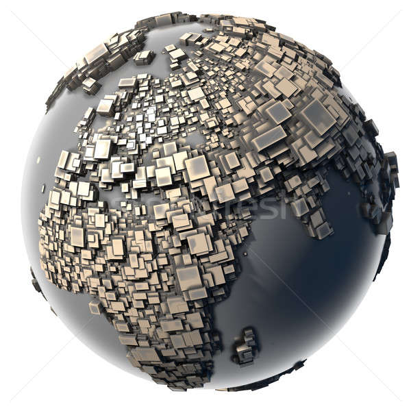 Stock photo: Metal Earth - the block structure
