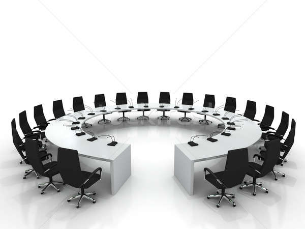 Top Stock photo : conference table and chairs with microphones isolated on  600 x 450 · 39 kB · jpeg