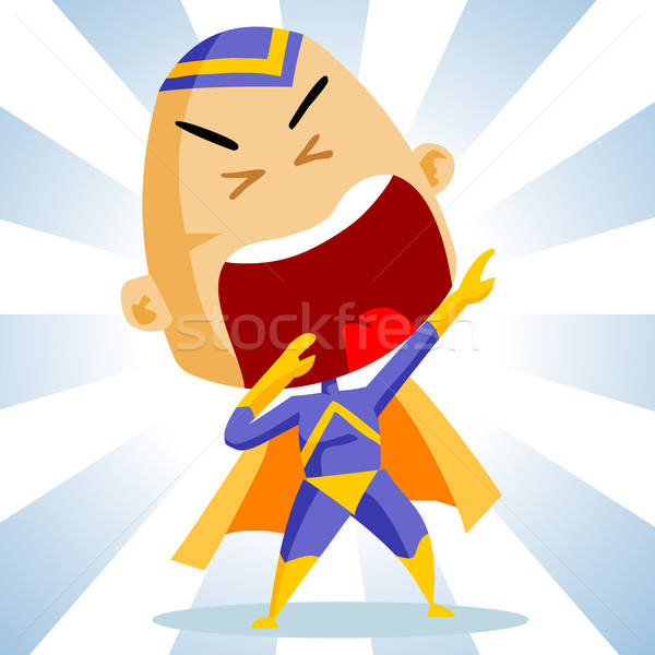 Stock photo: Kid play Superhero