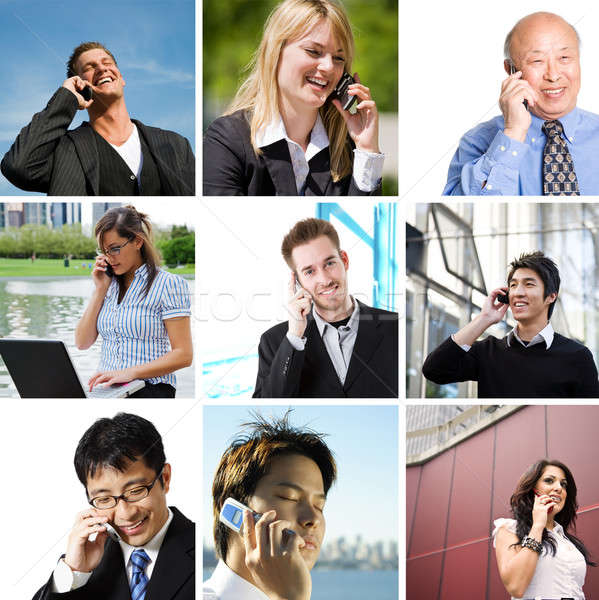 Pictures Of People Talking. Business people talking on
