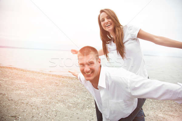 Stock photo: Happy caucasian couple