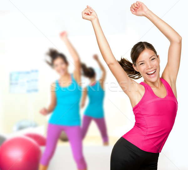 Stock photo: Fitness dance zumba class