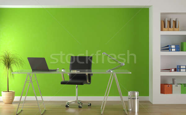 Interior design of modern green office stock photo pablo for Green office interior design