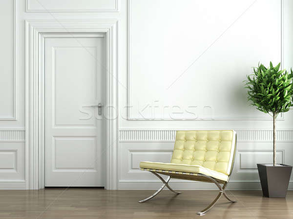 Stock photo: classic white interior