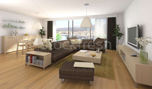 Modern interior design of apartment stock photo pablo for Interieur design online
