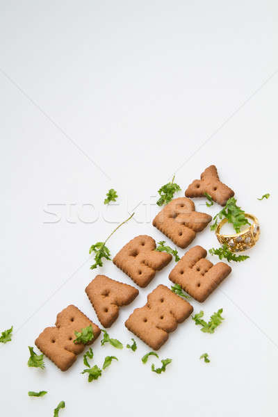 Stock photo: Marry Me Biscuits And Leaves II