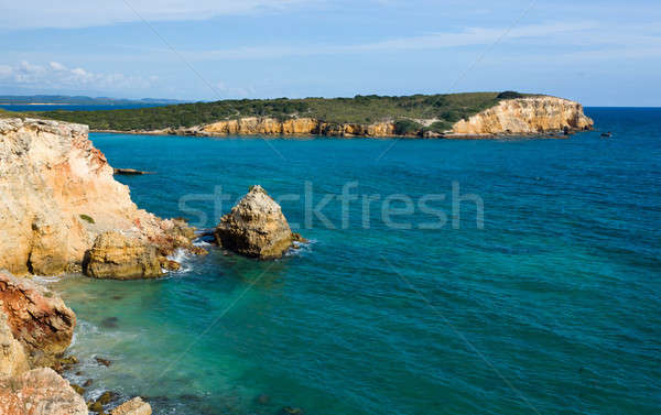 Stock photo: Rocky headland off Puerto Rico