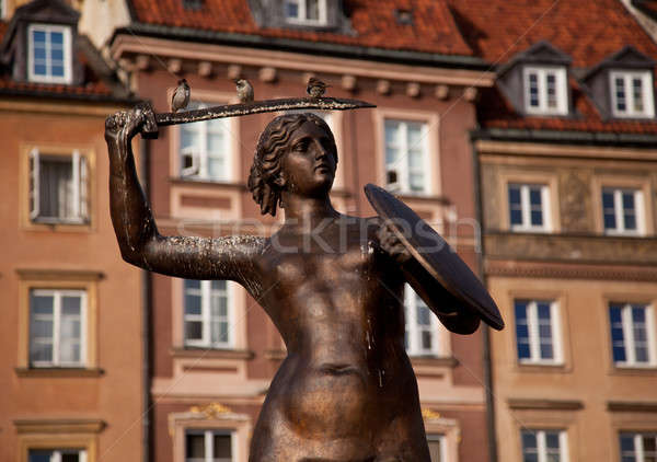 Stock photo: Mermaid Statue Warsaw