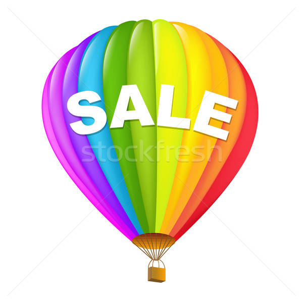 Stock photo: Colorful Sale Hot Air Balloons
