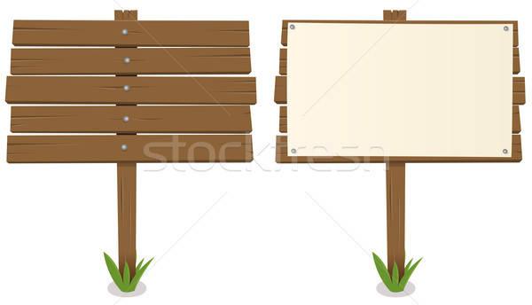 Cartoon Wood Board ~ Cartoon wood board vector illustration benoit chartron