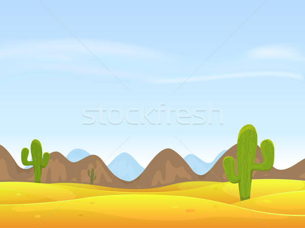 Stock photo: Desert Landscape Background