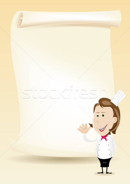 Woman Chef Restaurant Poster Menu background vector ...