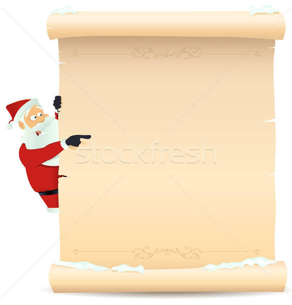 Santa Claus List Template #1996883 santa pointing