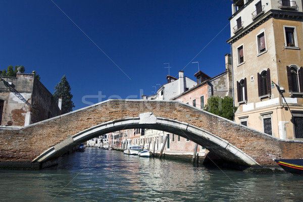 Stock photo: Canal and bridge in Venice