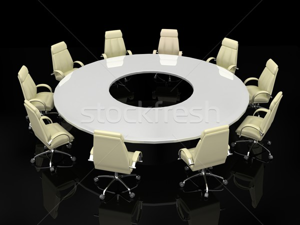 Stock photo: Business concept. Financial conference