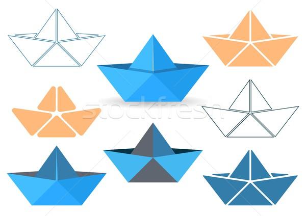 Origami boats vector illustration ?息 David Benes (blumer1979 ...