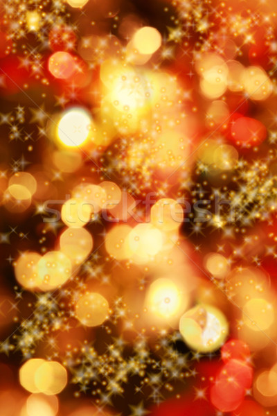 Stock photo: Christmas lights background