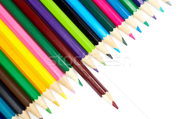 Stock photo: Assortment of colored pencils