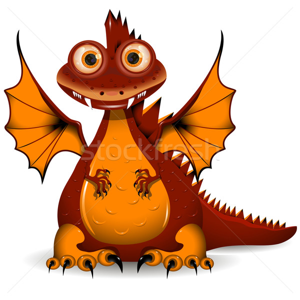 Stock photo: red Dragon