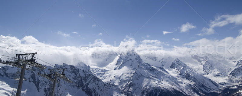 Stock photo: Ski resort. Panorama