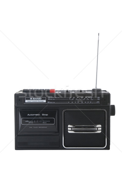 Stock photo: Vintage radio cassette recorder