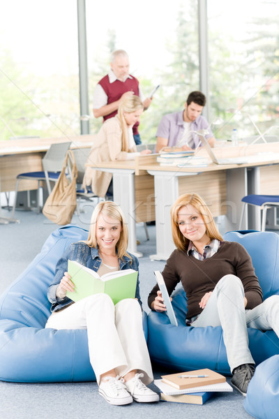 Students and professor - education and learning at high school or university