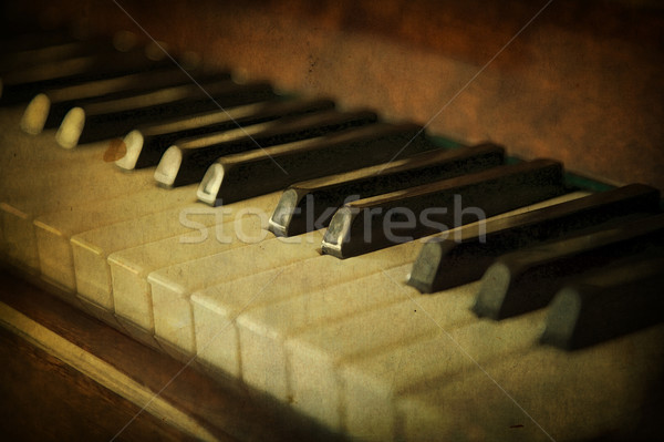 Stock photo: Black and white piano keys