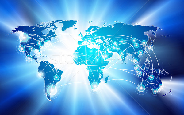 Stock photo: global network connection concept