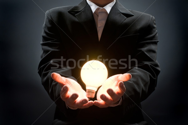 Stock photo: illuminated bulb