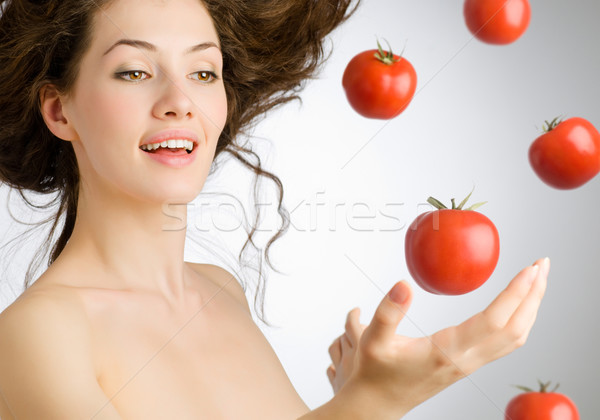 Stock photo: red tomato
