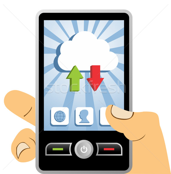 Stock photo: Cloud computing mobile device