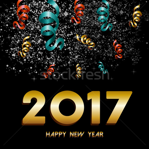 Stock photo: New Year 2017 firework explosion design