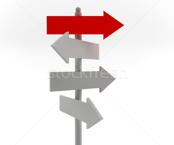 Stock photo: Road arrow sign